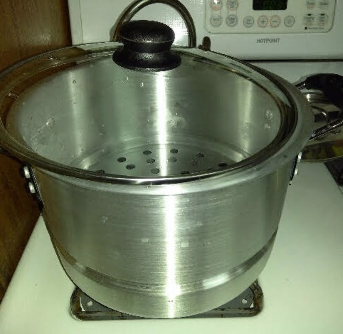 You will need a large steamer pot, like this, to cook your tamales.