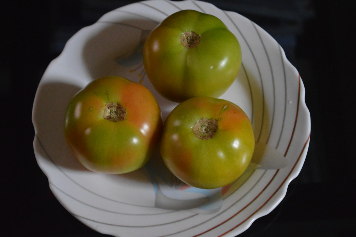Raw tomatoes.