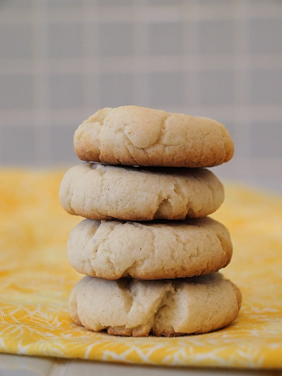 These sugar cookies are stepped up a level with the addition of lemon juice and zest.  It's a delicious treat for those of us watching our diet.