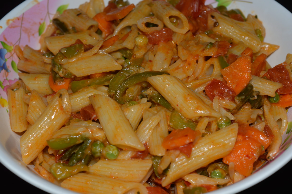 Vegetable pasta-Indian style
