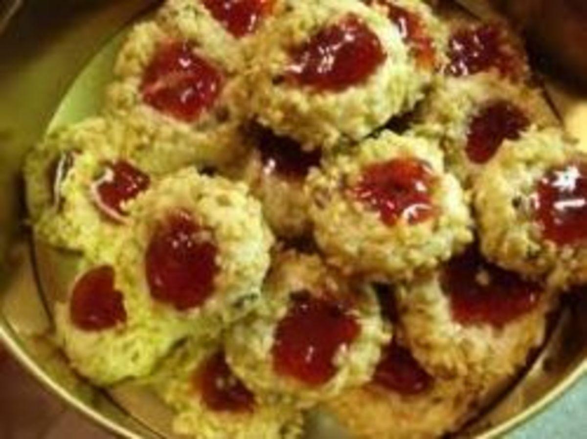 Blackberry sage thumbprint cookie recipe