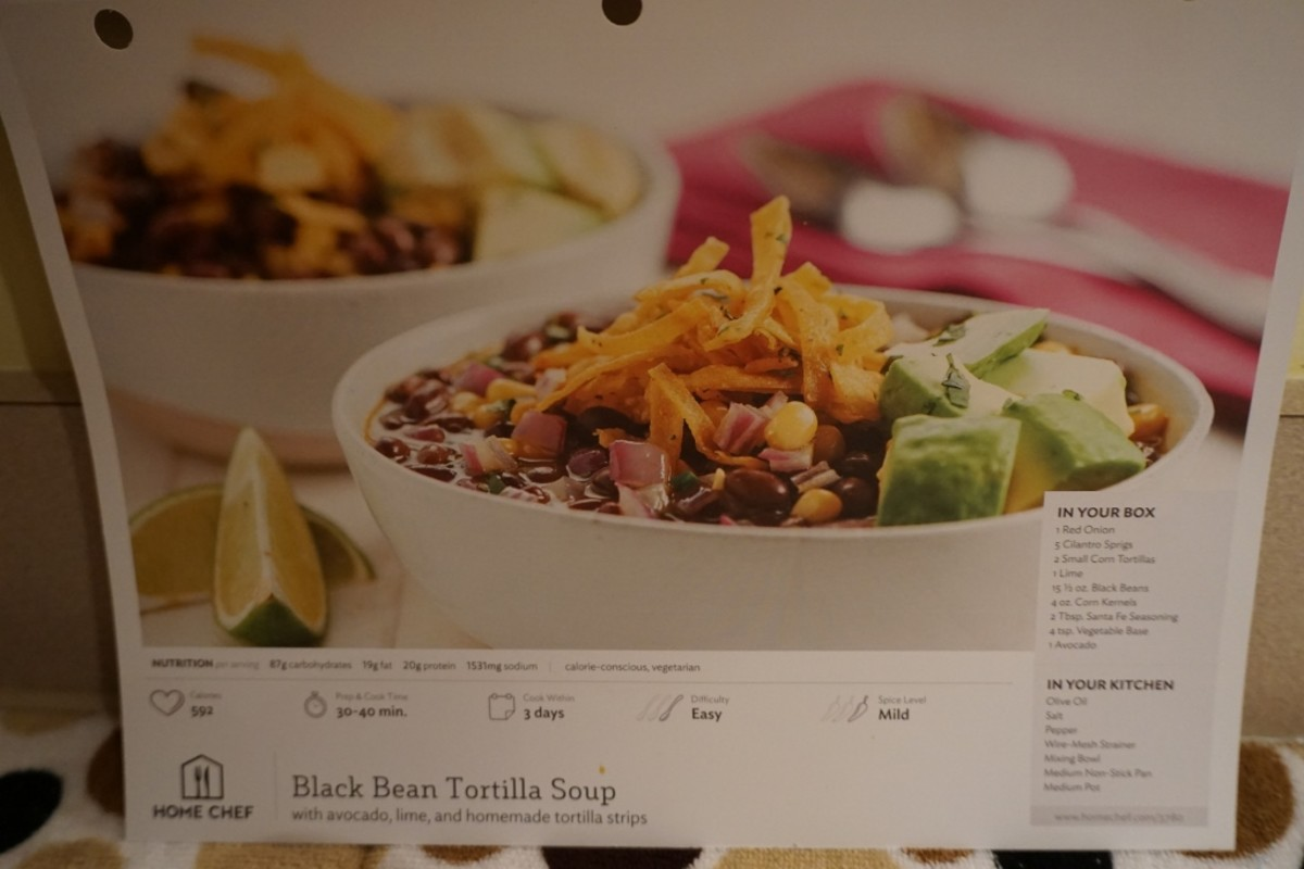 Recipe photo card.