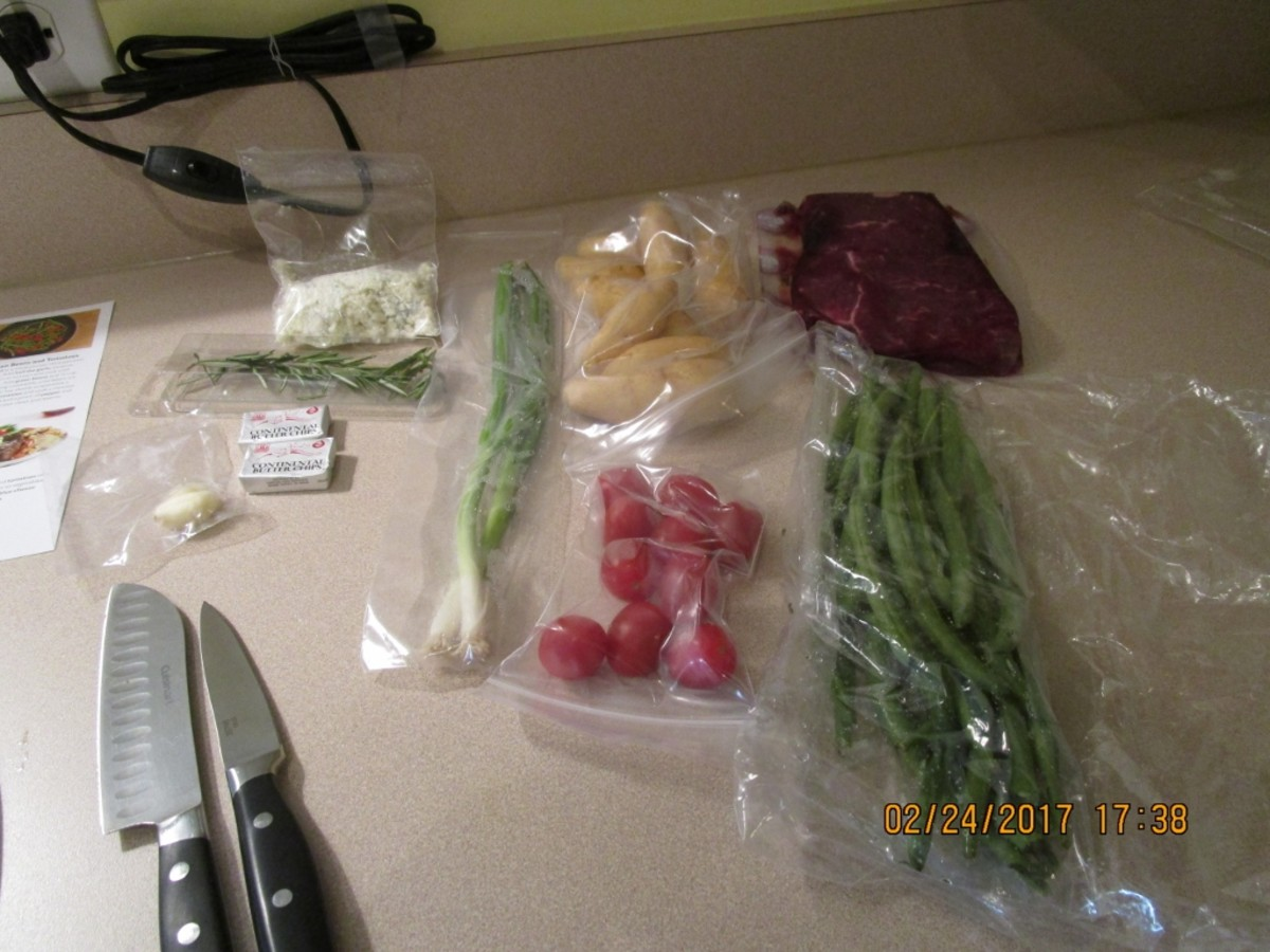 Here are all the ingredients that came in the box to prepare two servings.