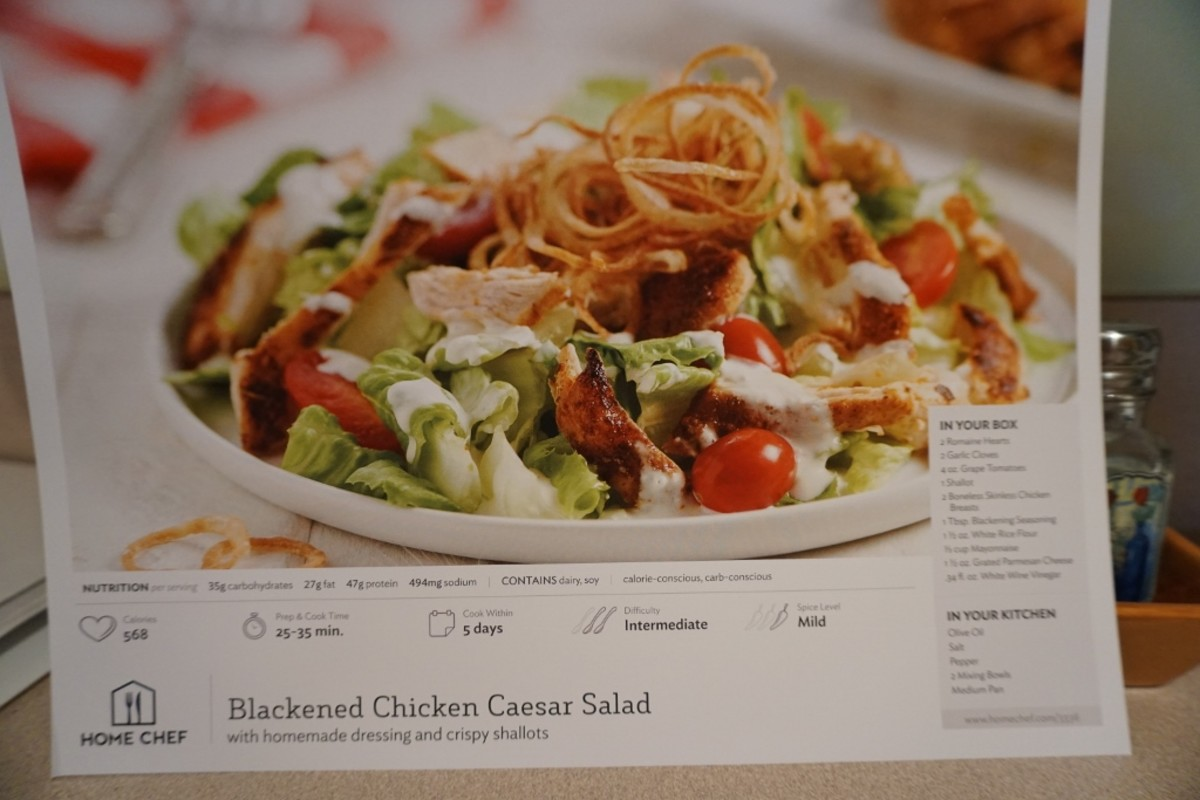 Recipe card of Blackened Chicken Caesar Salad