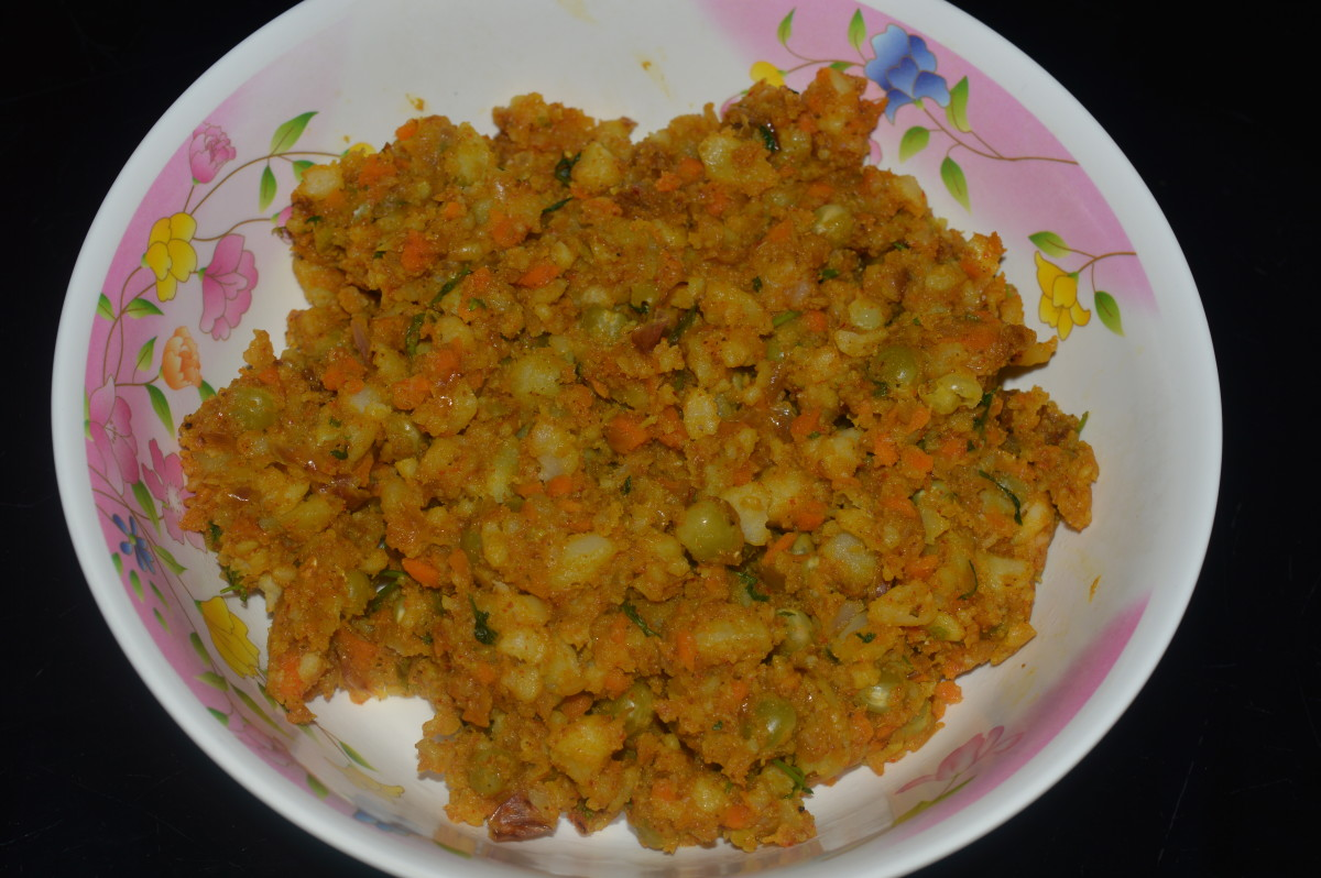 The stuffing for samosas