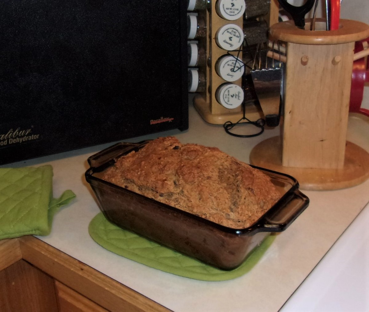 Sugar-free banana bread.