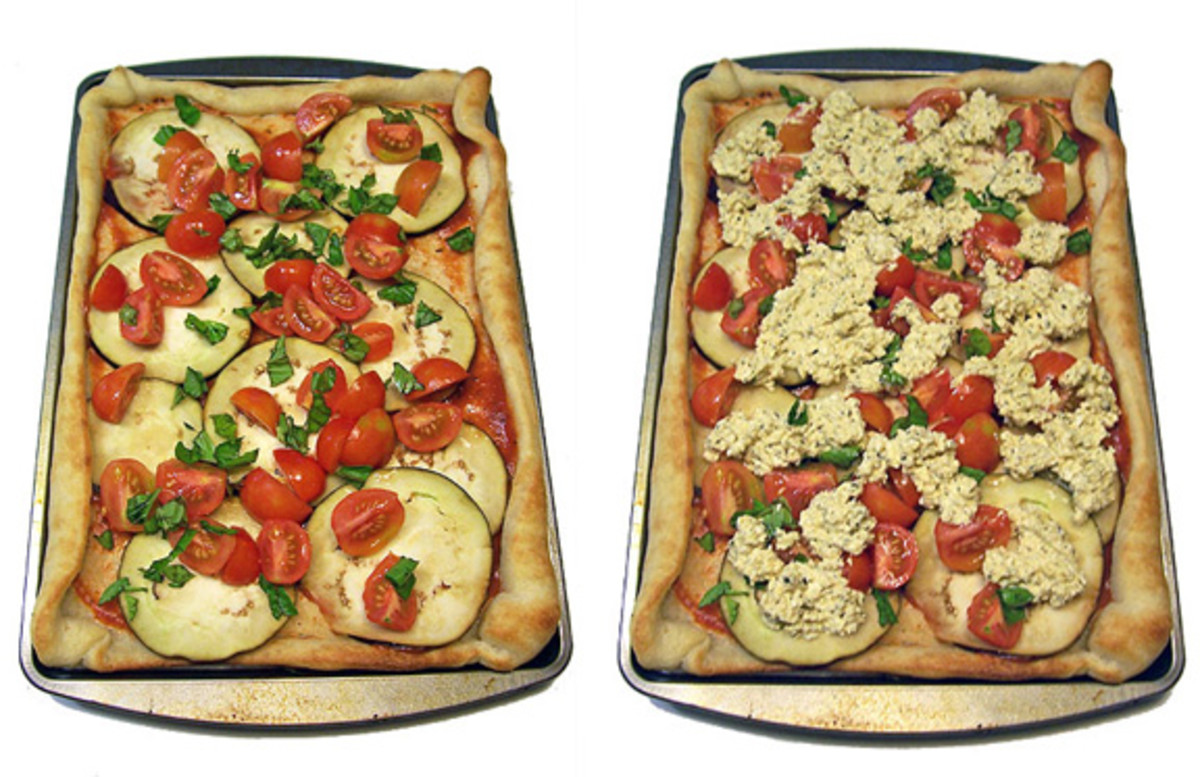 Delicious baked vegan pizzas!
