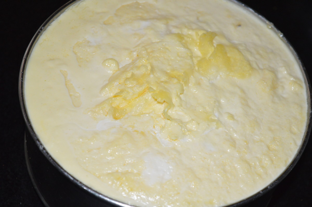 Curdled milk cream