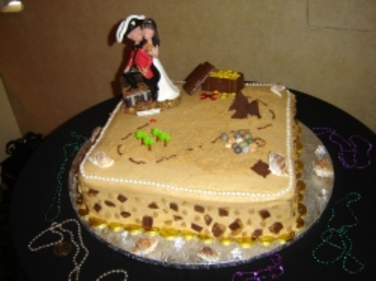 Peanut Butter Pirate Wedding Cake