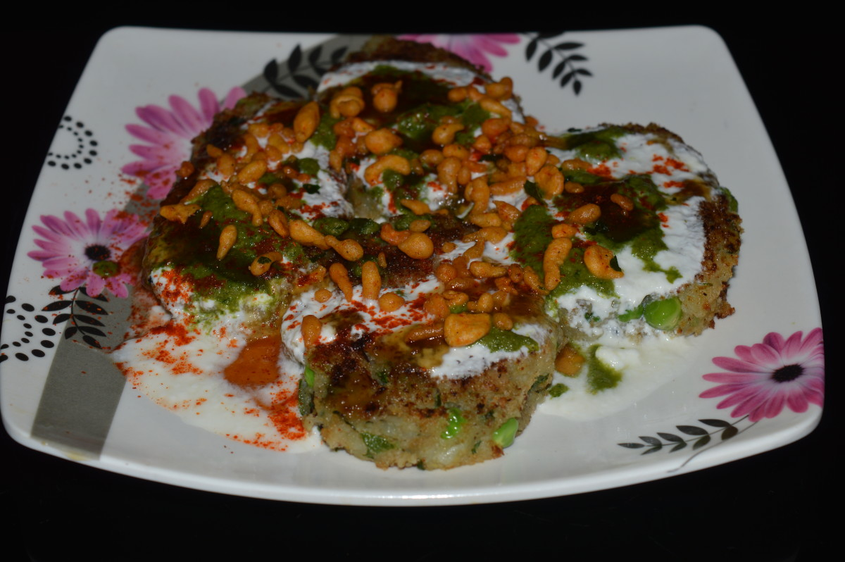 potato tikki chaat ready to serve