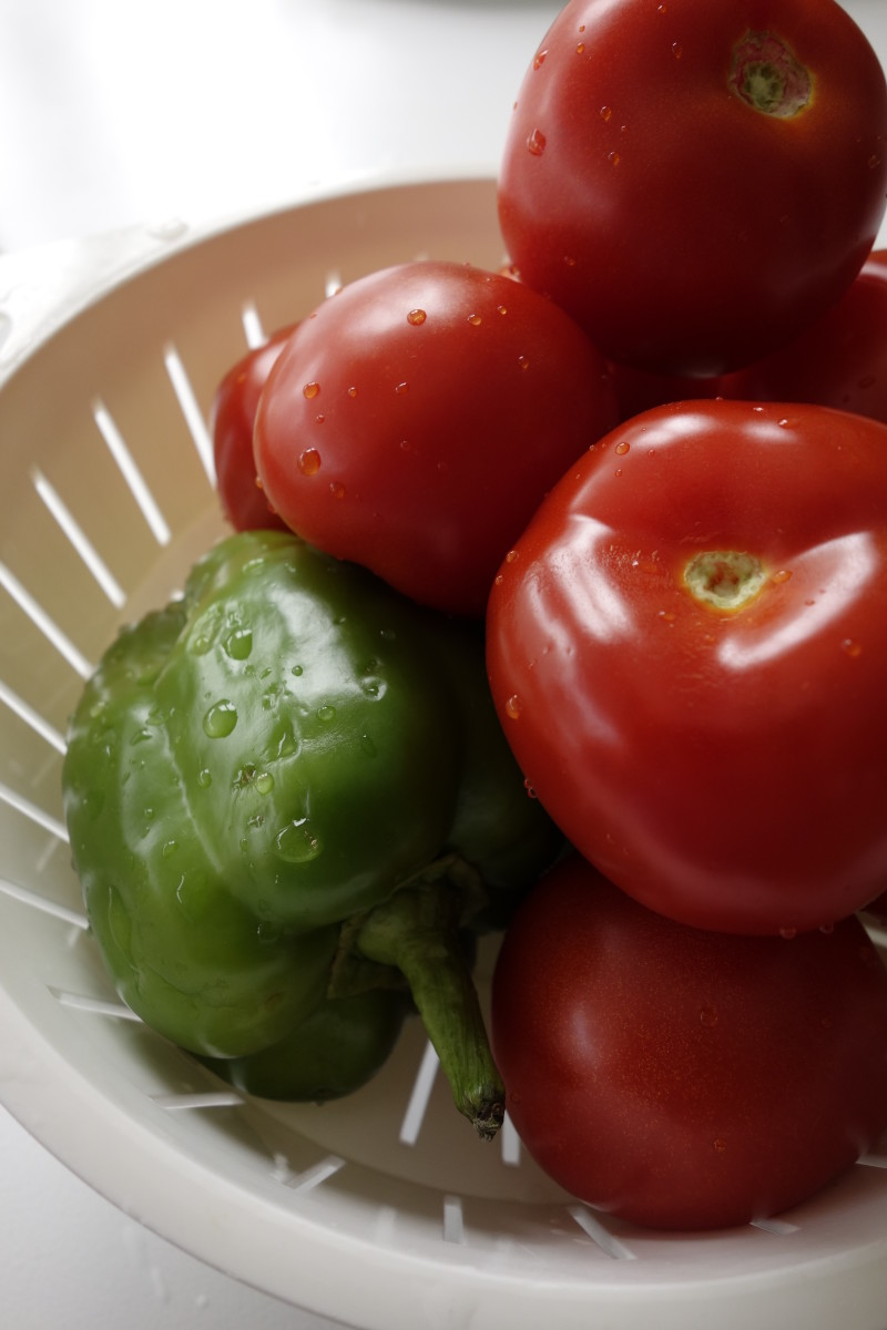 Tomatoes and green pepper