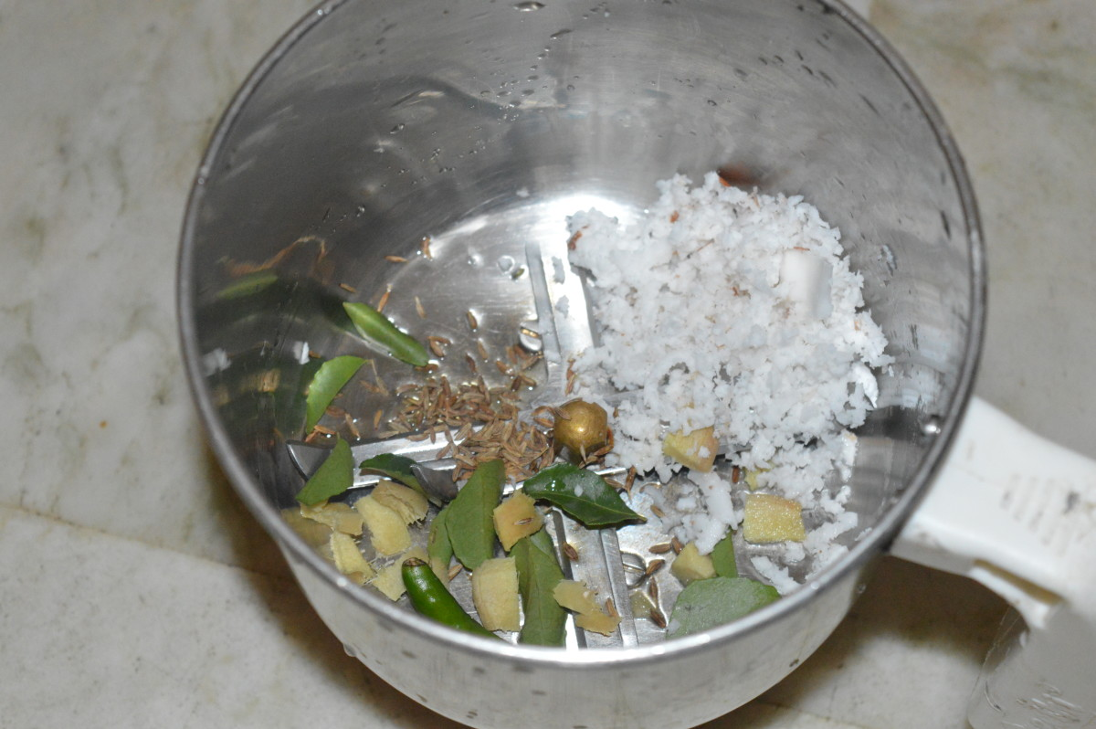 ingredients in a pot