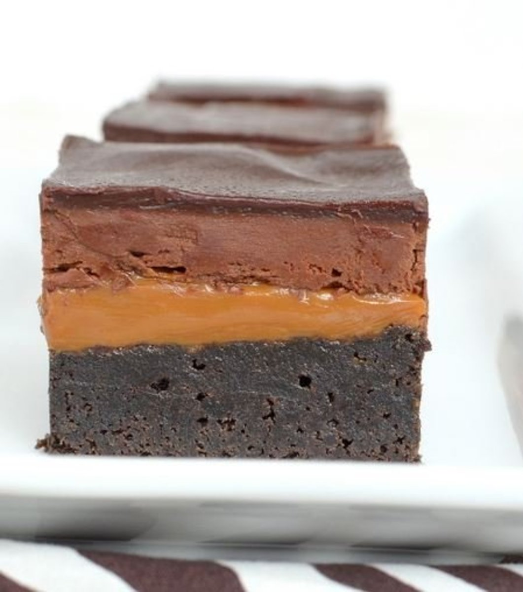 These caramel brownies have amazing layers.