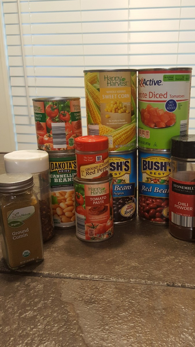 The last time I made this, I set the dry ingredients (minus the black pepper, oops) out on the kitchen island so that I could update my photos. After seeing all the cans and spices, my husband asked me if I was cleaning out the pantry.