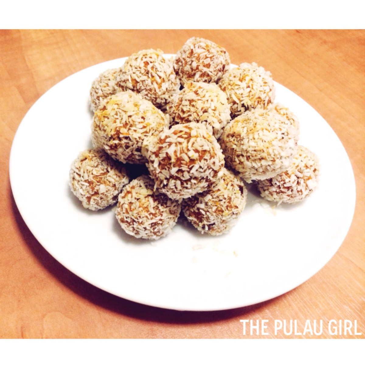 Sweet potato coconut balls are yummy.