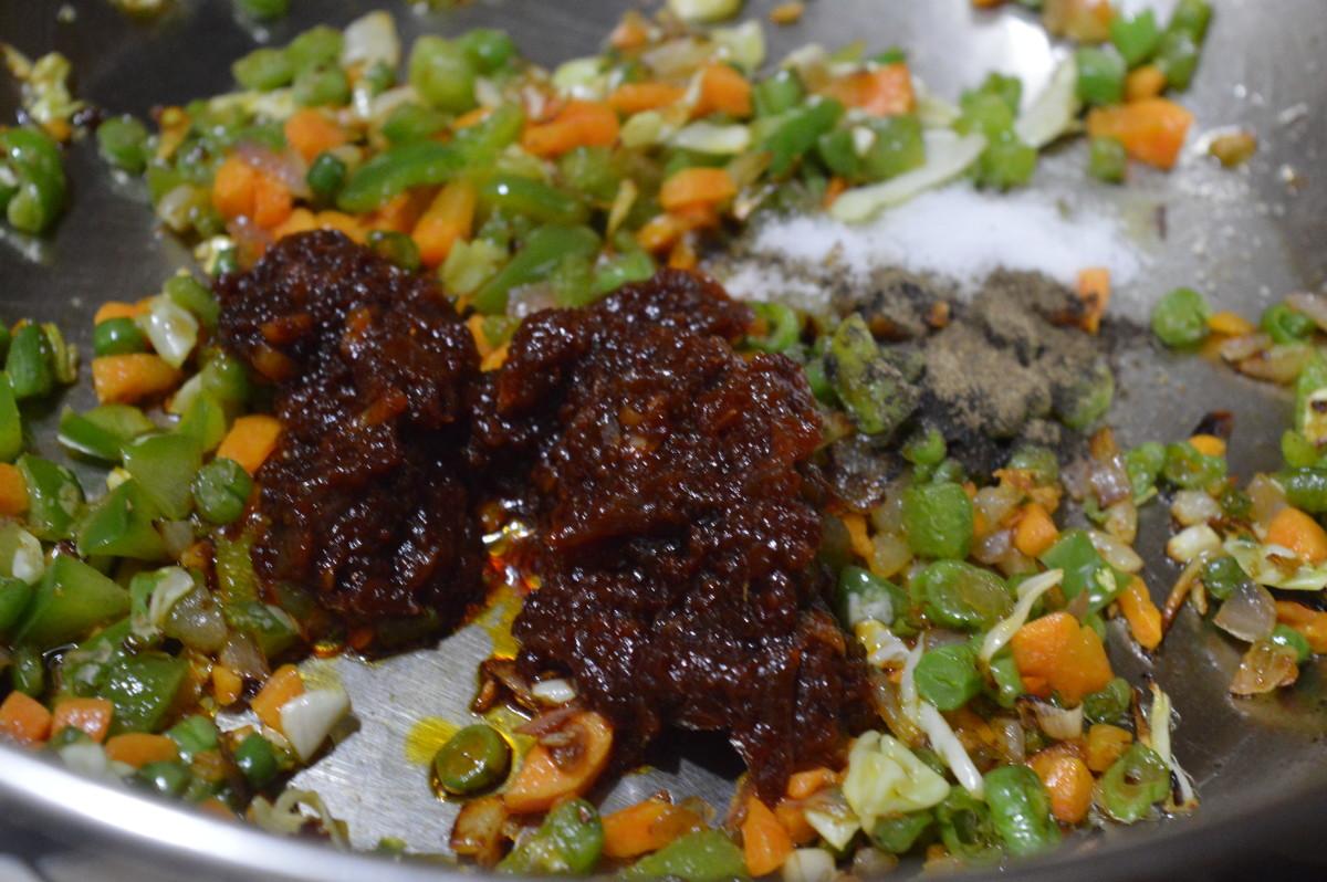 szechuan sauce, salt, and pepper powder added