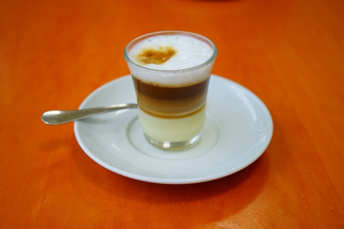 Cafe asiatico, also known as zaperoco or barraquito