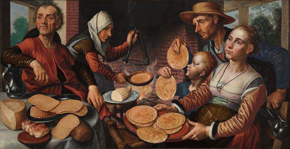 The Pancake Bakery by Pieter Aertsen,1560