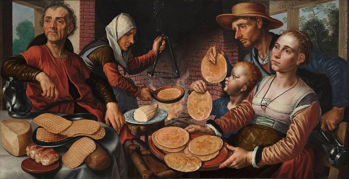 The Pancake Bakery by Pieter Aertsen,1560
