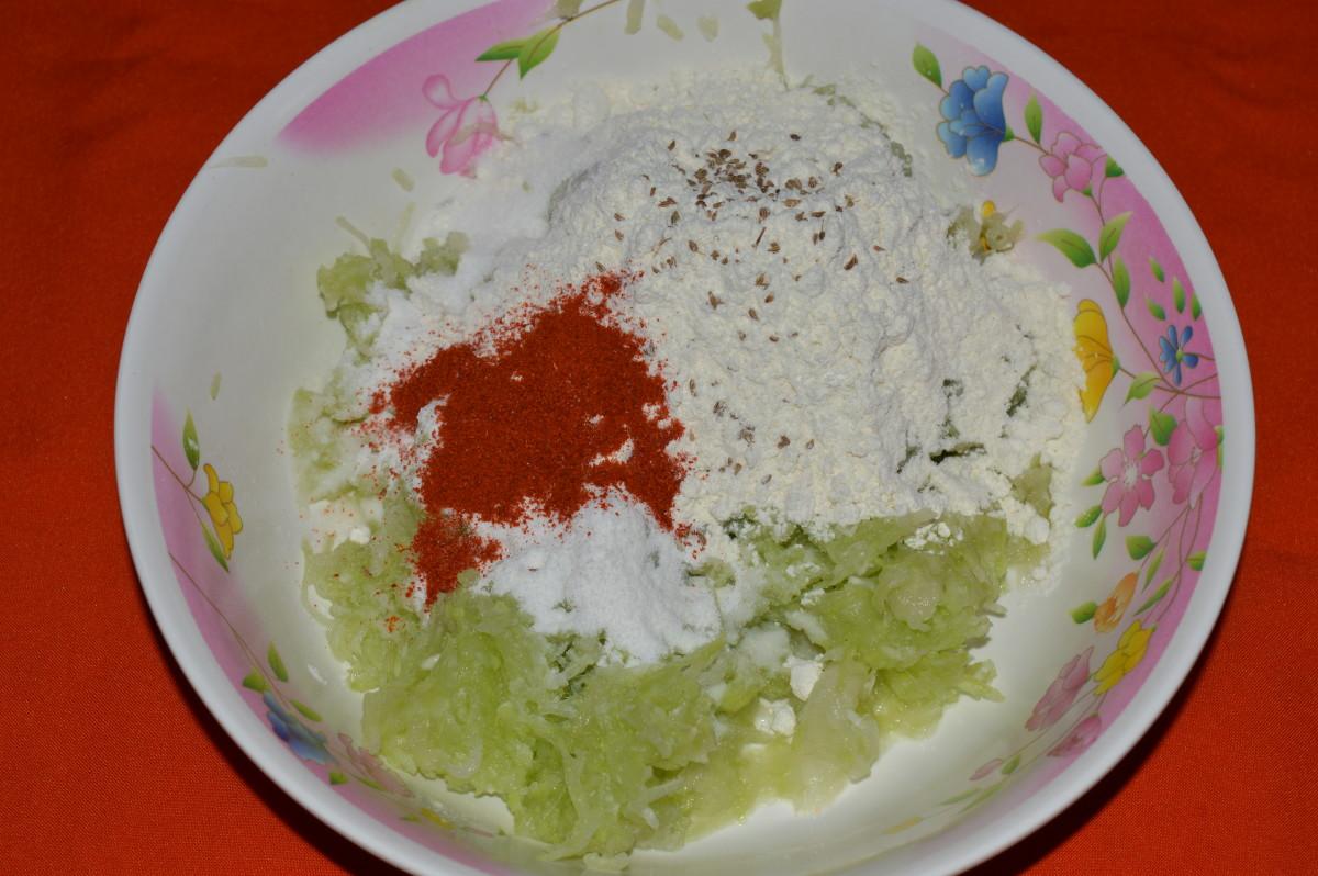 mix contents for making kofta dough