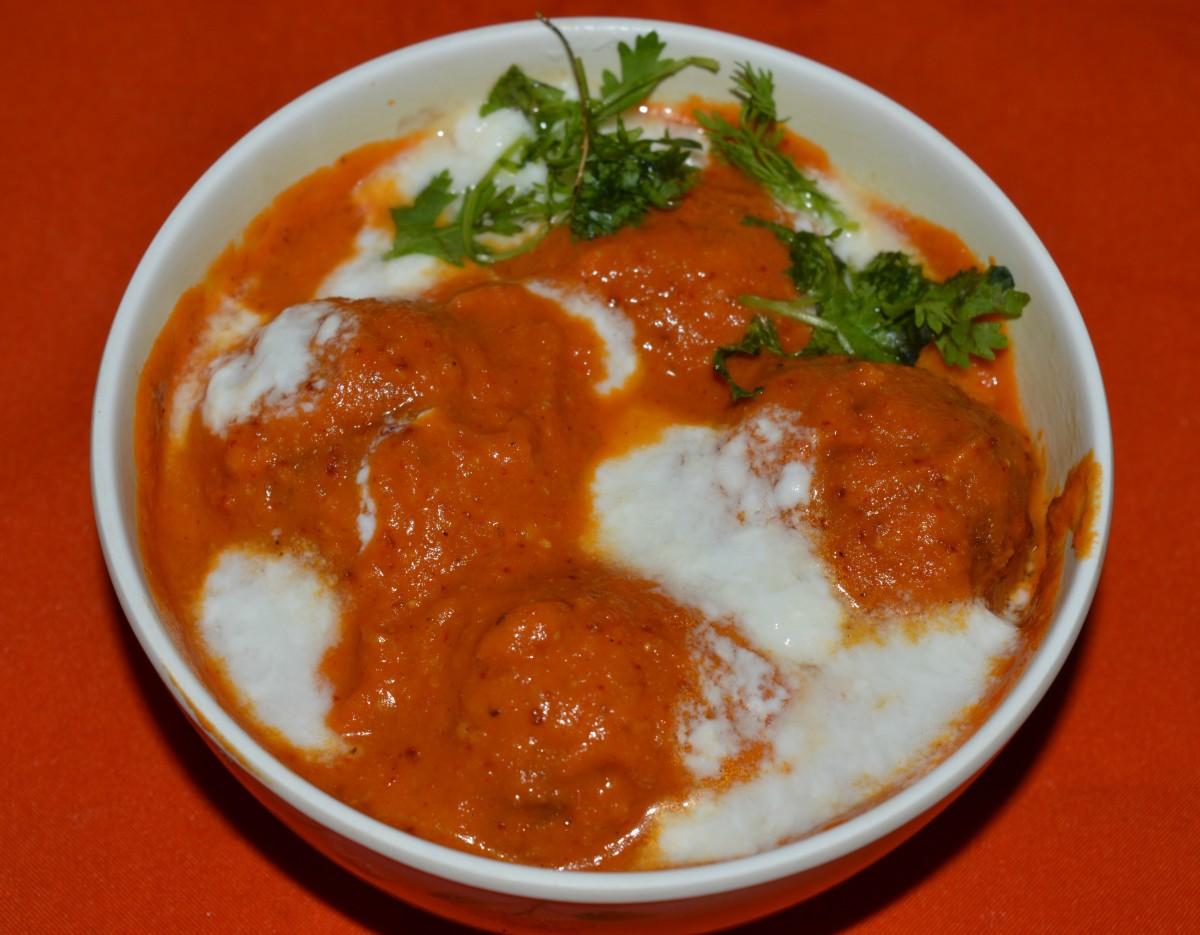 Bottle gourd kofta curry