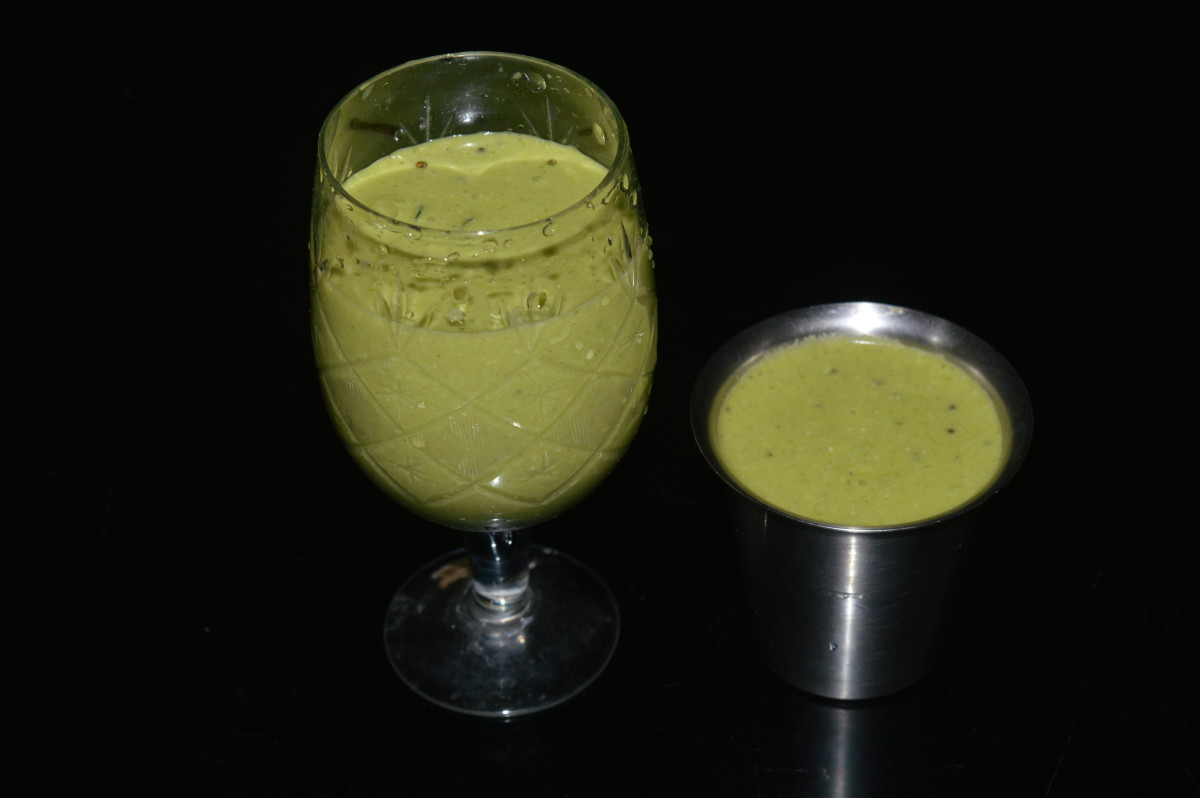 Step four: Add remaining curd, salt and water. Oregano beverage is ready to drink. Pour it in  glasses. Enjoy drinking!