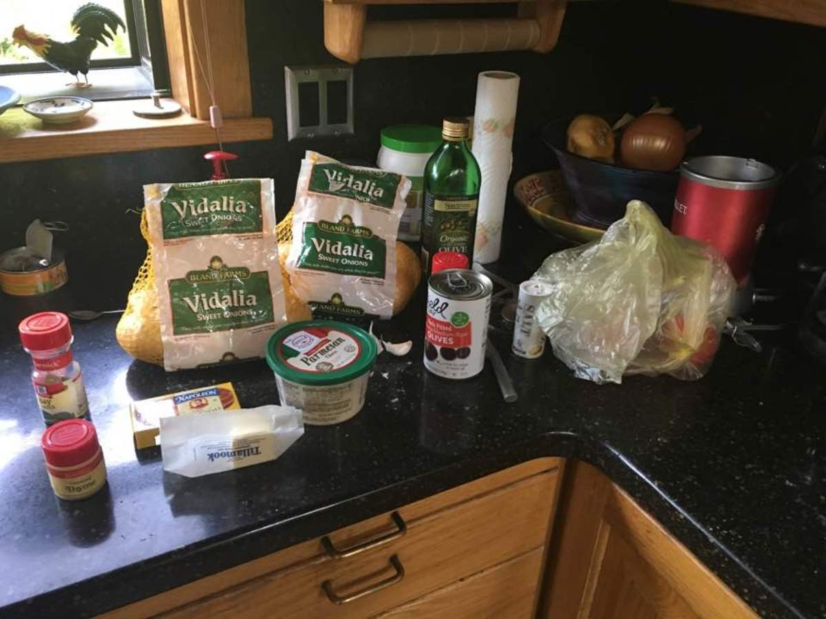 Ingredients for the pizza itself