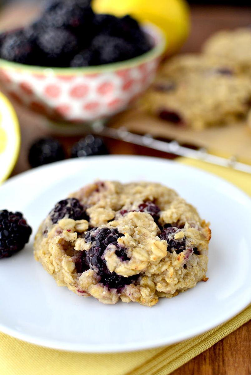 Lemon-Blackberry Breakfast Cookies