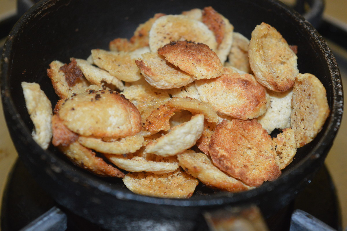 Step seven: Spicy and crunchy ash gourd and lentil fritters ready for eating!