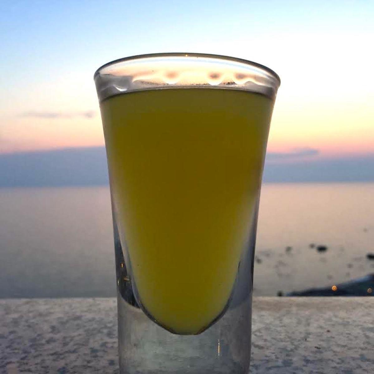 Limoncello produced on the Island of Ischia