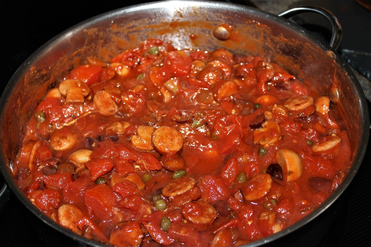 Puttanesca Sauce with Sausage