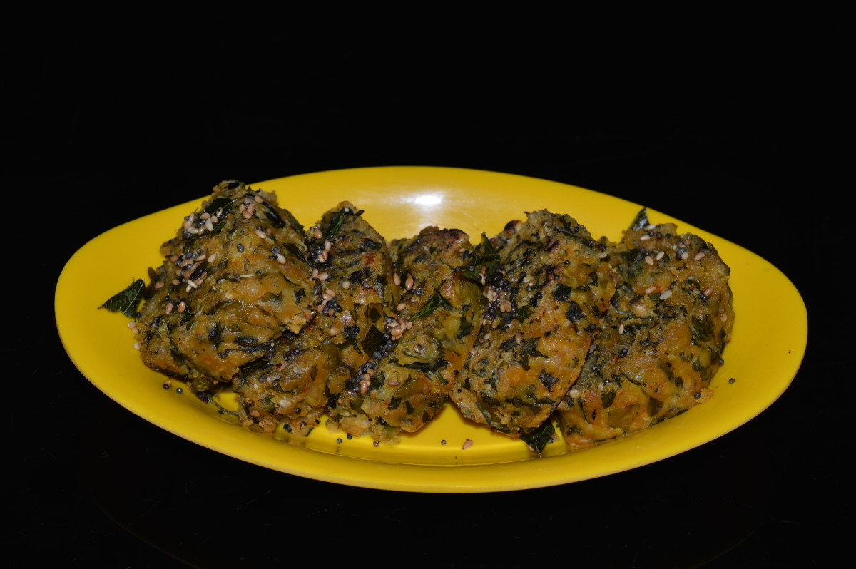 Fenugreek leaves steamed dumplings(methi muthiyas) are ready to eat!