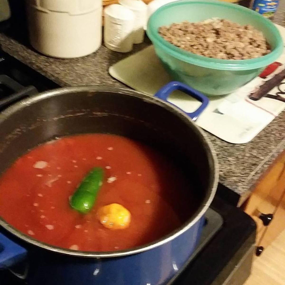 Simmer Chili and Peppers