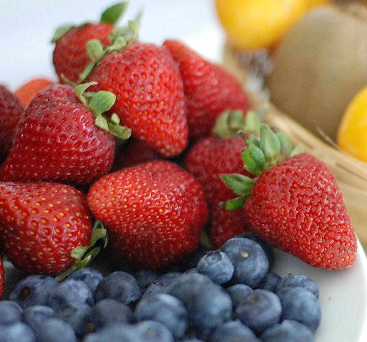 Fresh fruit and yogurt, yum yum.