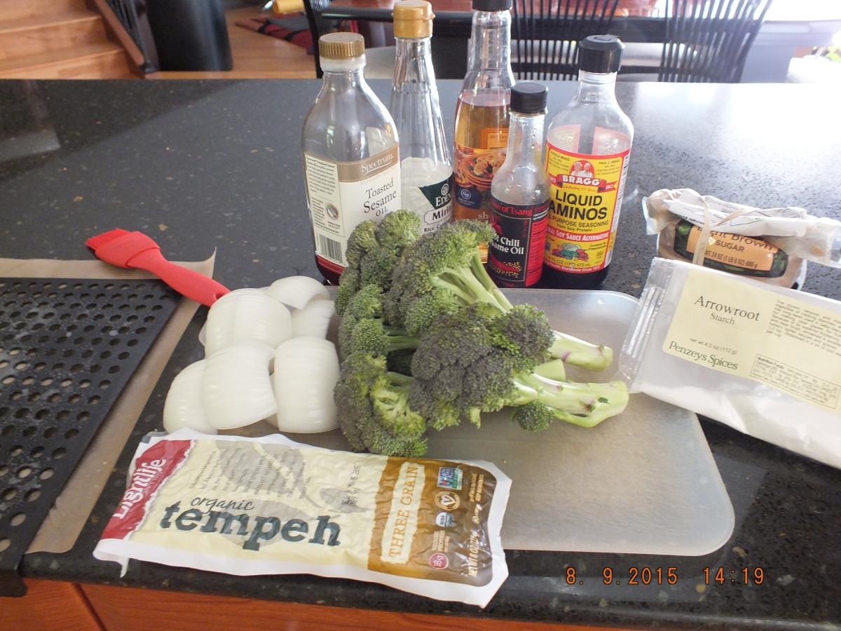 Tempeh Yakitori with Broccoli