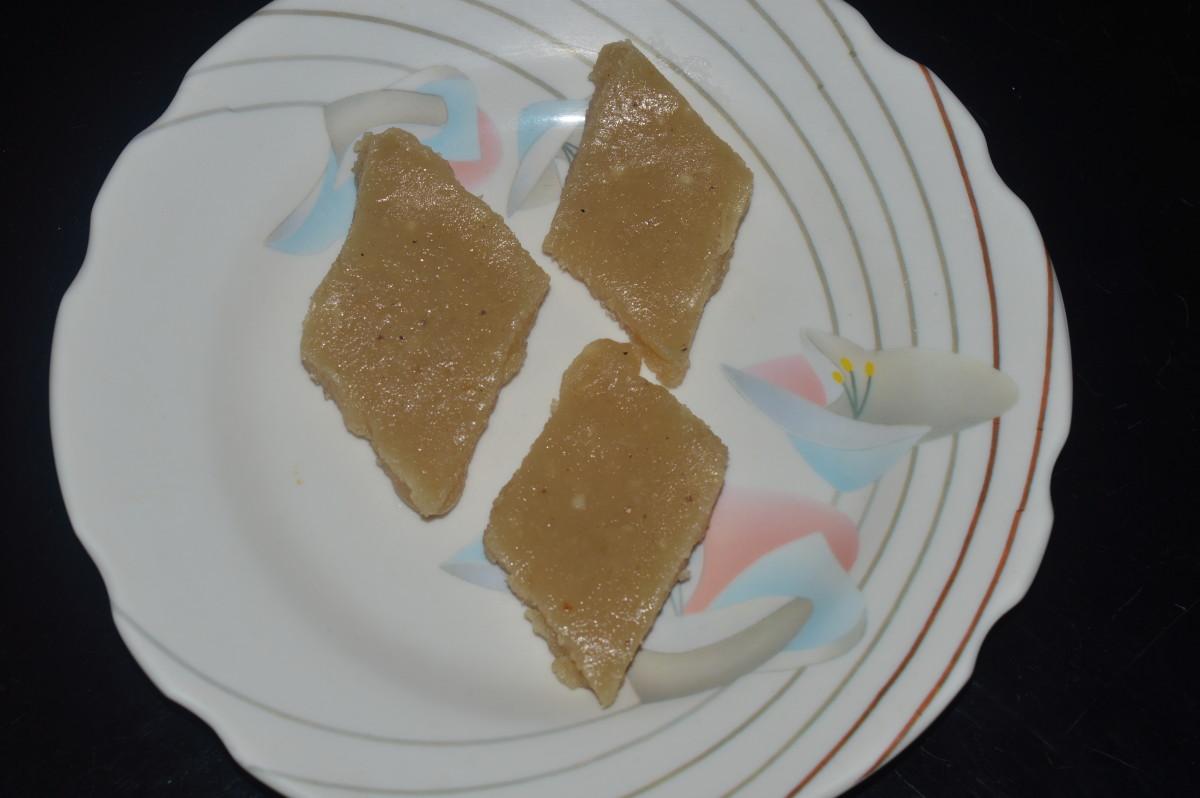 Cashew barfi or Kaju burfi(soft burfi)
