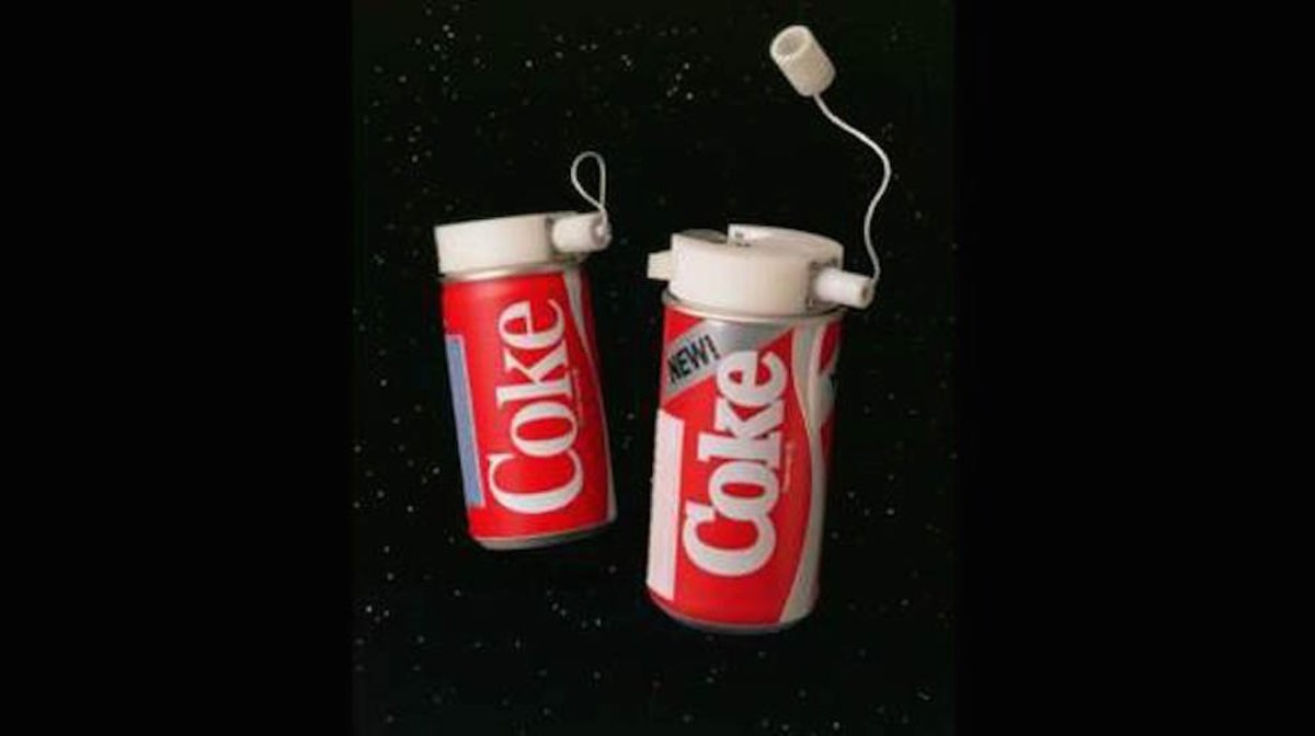 The space Coke's design
