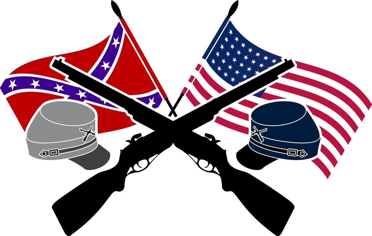 Confederate and Union Flags
