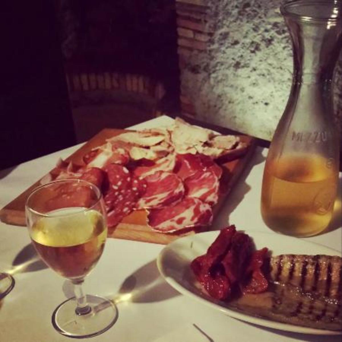 Pork and wine.