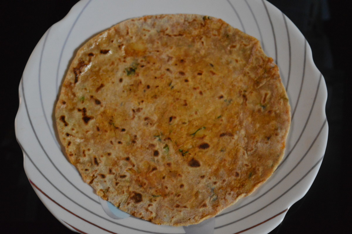 Cabbage potato paratha