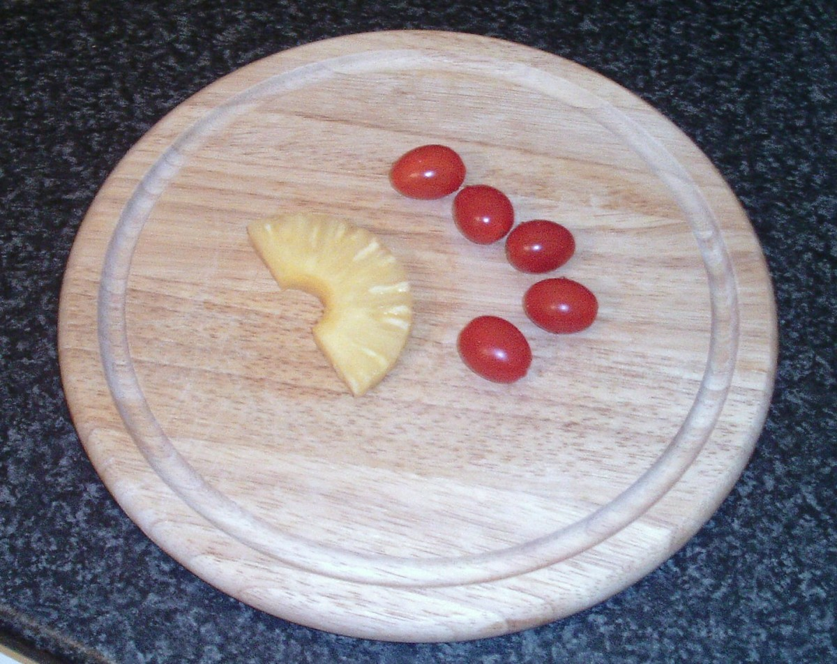 Tomatoes and pineapple
