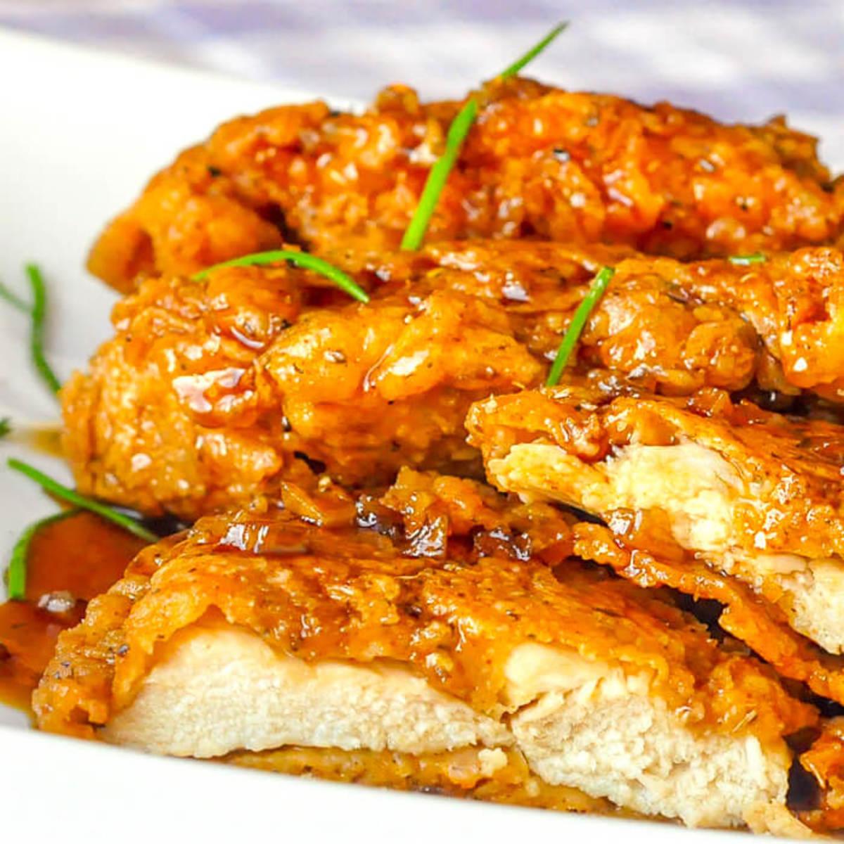 Double-Crunch Honey Garlic Chicken Breasts