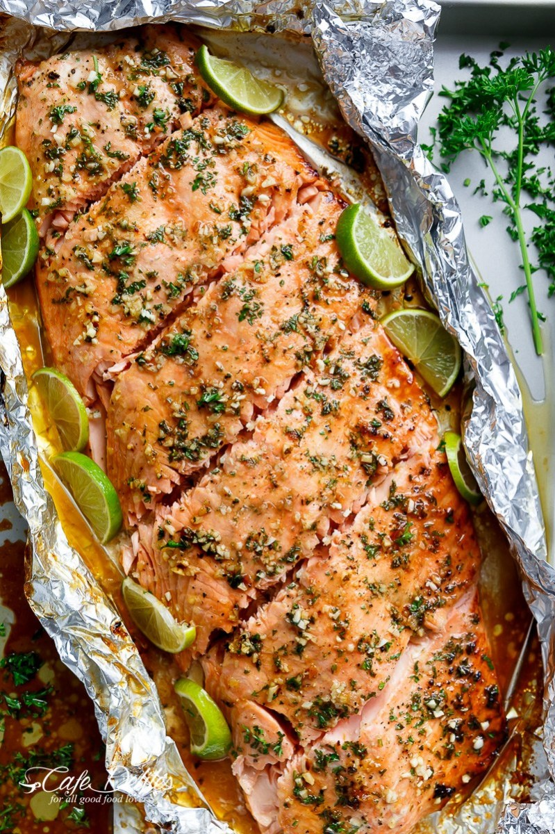 Honey-Lime-Garlic Butter Salmon