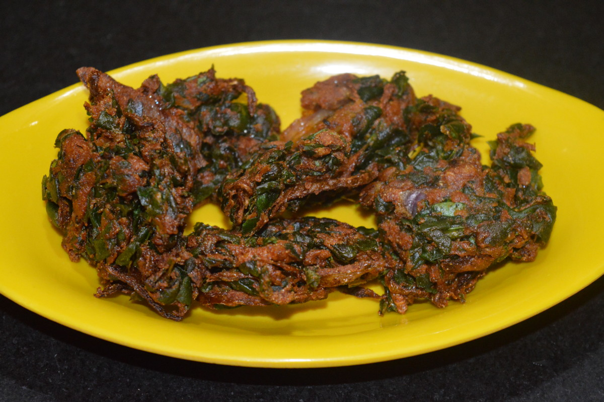 Step four: Spinach fritters are inviting. Serve them with tomato sauce. You can eat them with a cup of hot tea or coffee too. Enjoy the awesome taste of spinach pakoras!