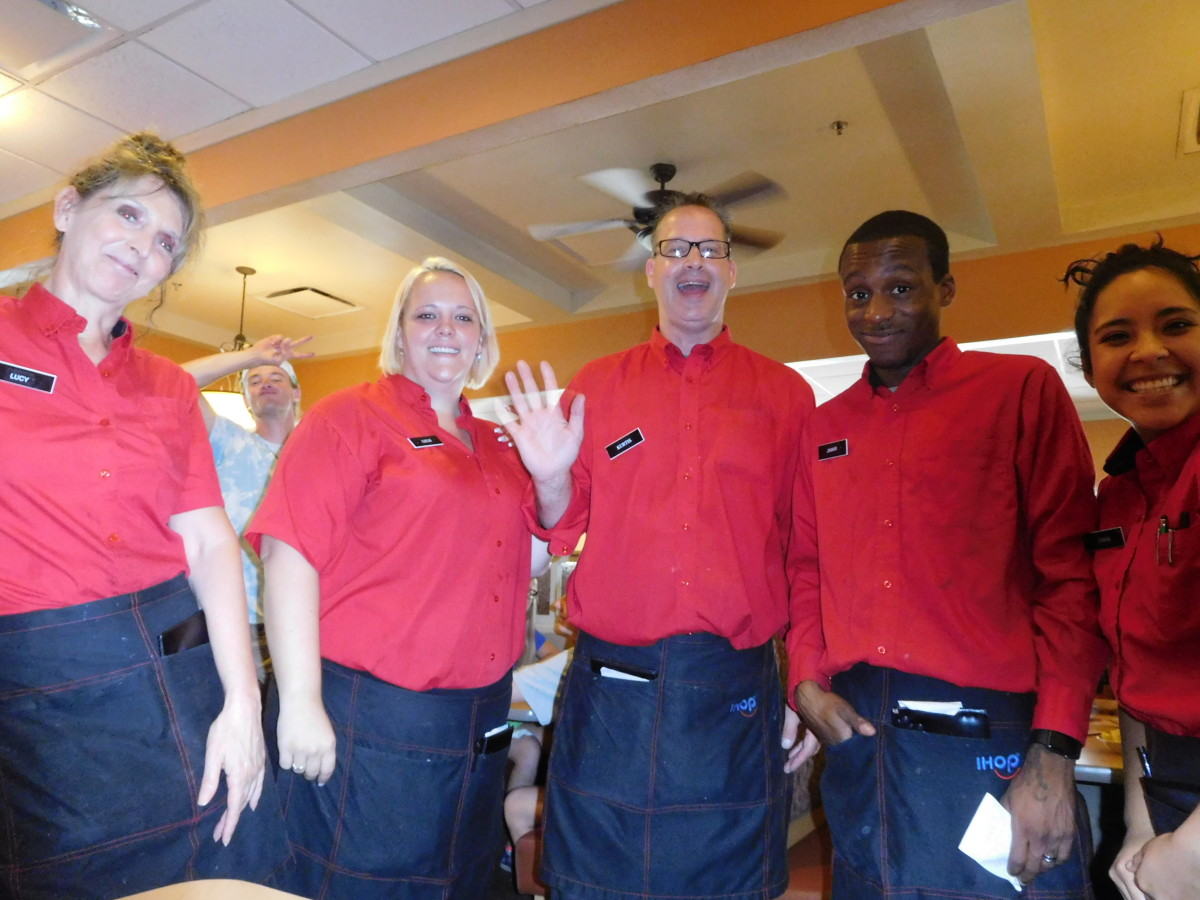 The IHOP staff that sang Happy Birthday to me!