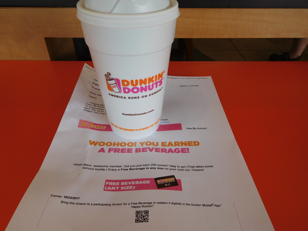 Free coffee at Dunkin Donuts for my birthday!