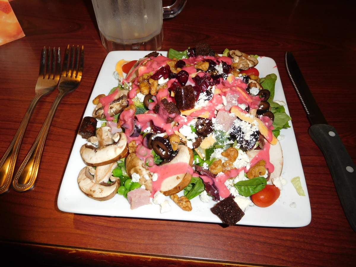 My free birthday salad at Ruby Tuesdays