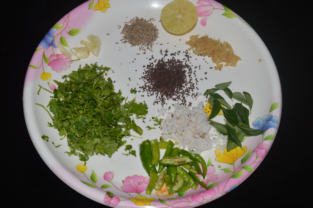 Step seven: Ingredients for making the mung beans soup