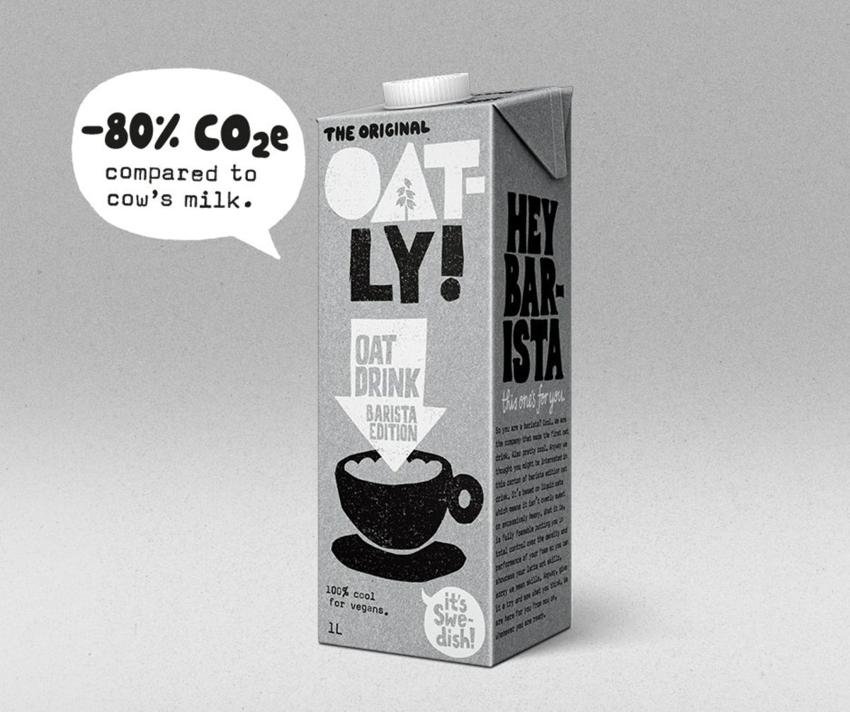 Unlike other milk alternatives, Oatly makes a product specifically for the coffee biz.