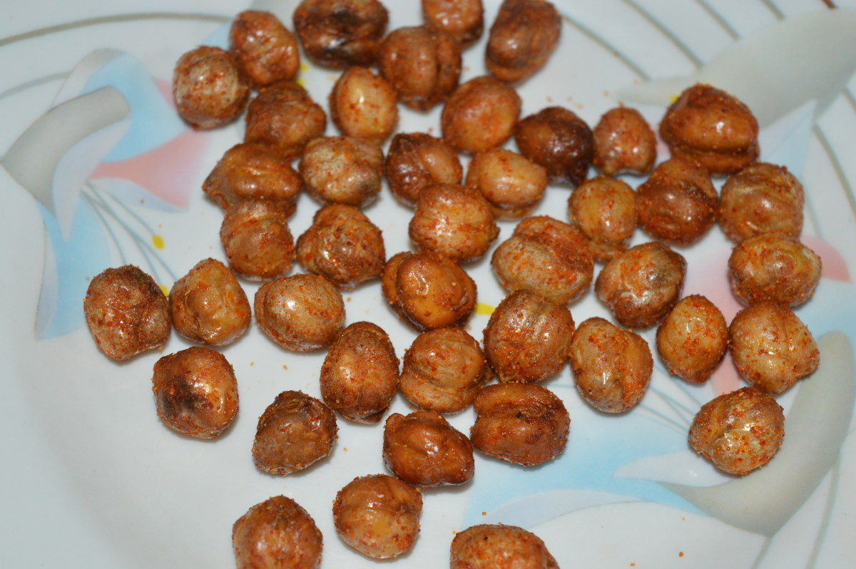 Step seven: Spicy fried chickpeas is ready to serve.